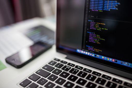 CSS coding on screen of MacBook