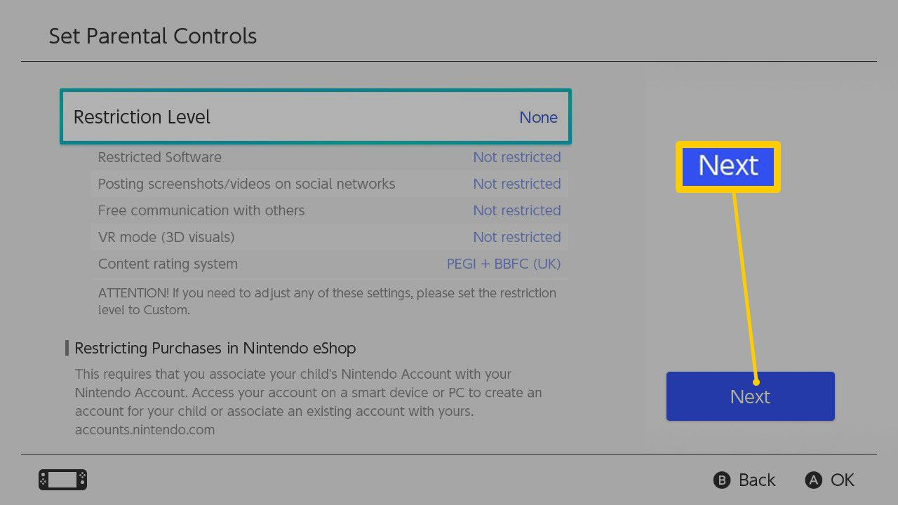 The Nintendo Switch Parental Controls Setup Process