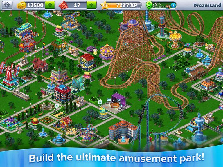 rollercoaster tycoon game screenshot