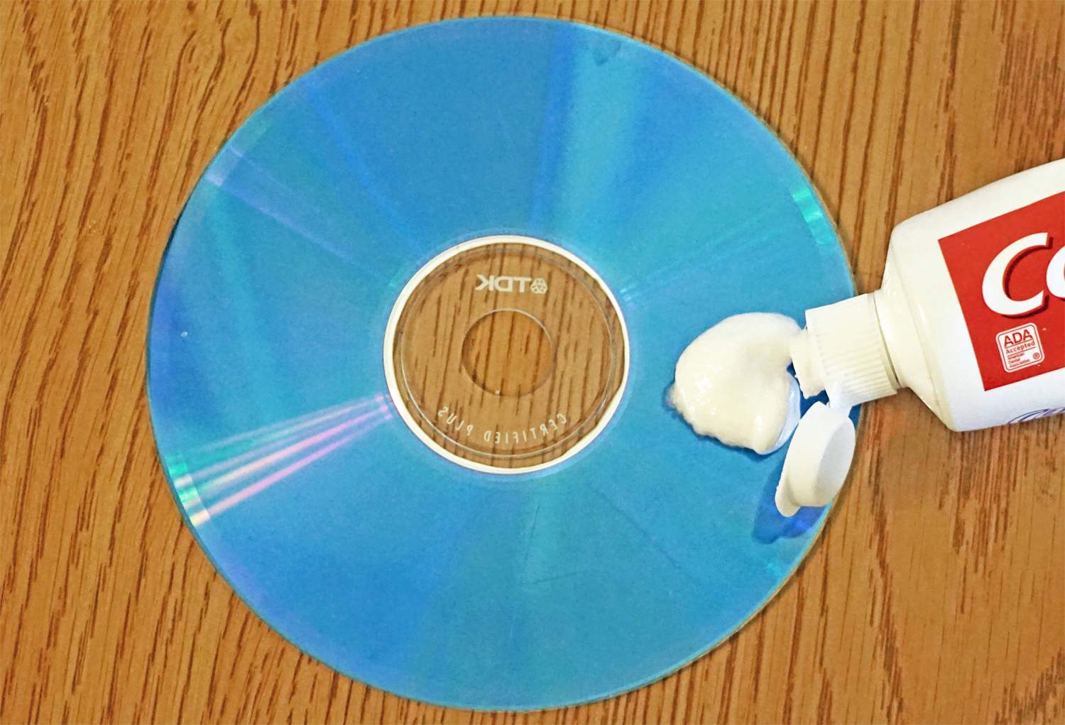 Scratched CD – Applying Toothpaste