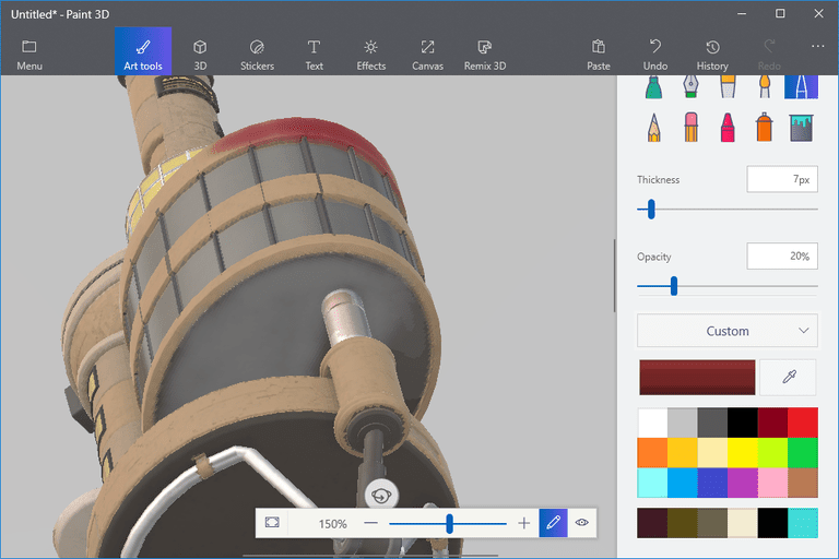 How to Insert and Paint 3D Models in Paint 3D