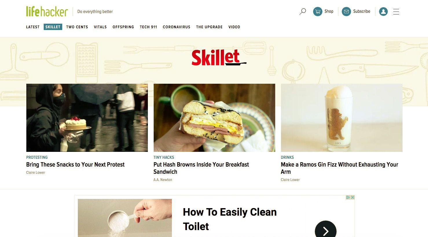 Lifehacker Skillet page