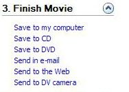 Screenshot of how to finish a movie.