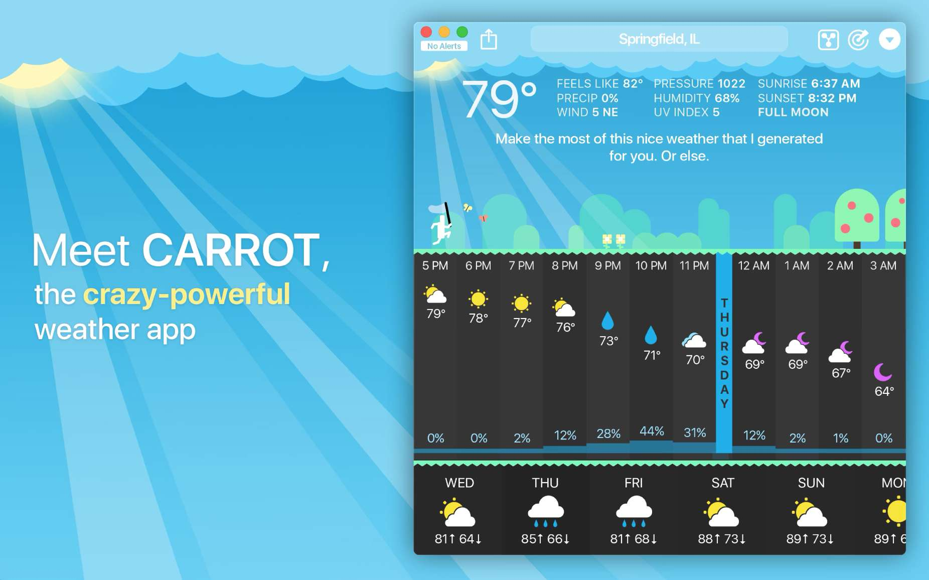 Carrot Weather for macOS