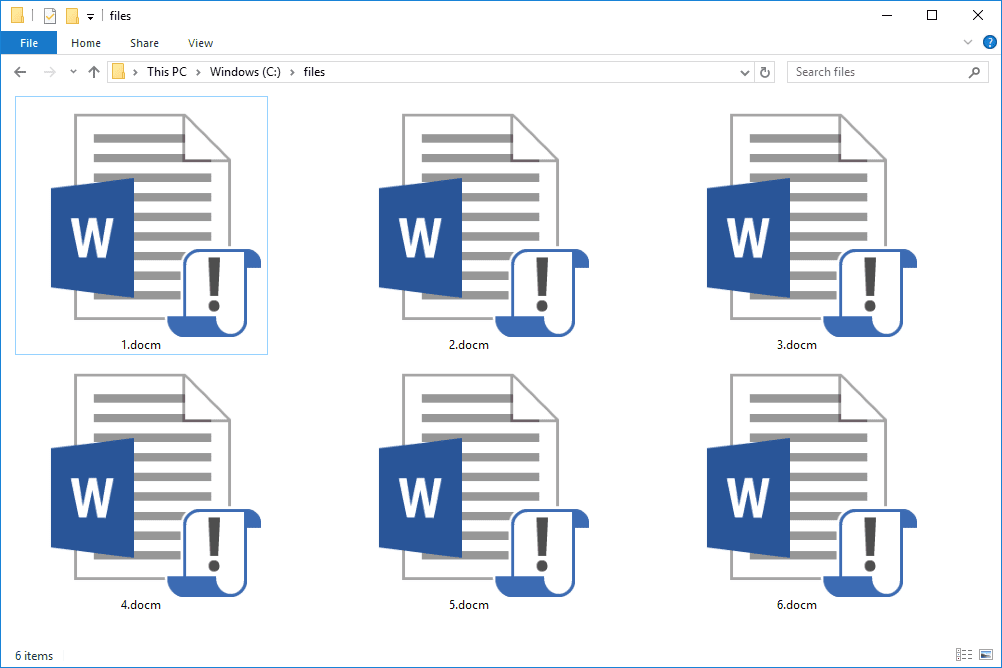 SDOCM files in Windows 10 that open with Microsoft Word