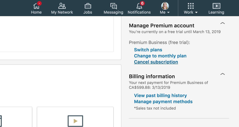 A screenshot of LinkedIn.com.