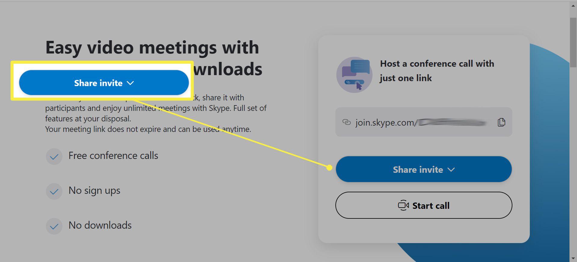 Using Skype Meet Now.