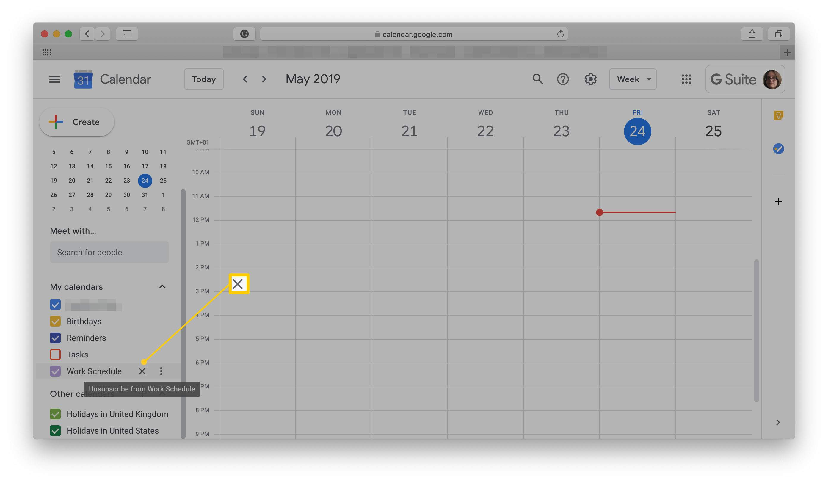 Событие гугл календарь с картинкой