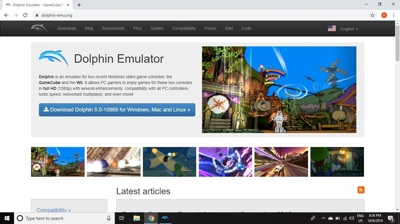 Visit the official Dolphin Emulator website to download Dolphin for your operating system.