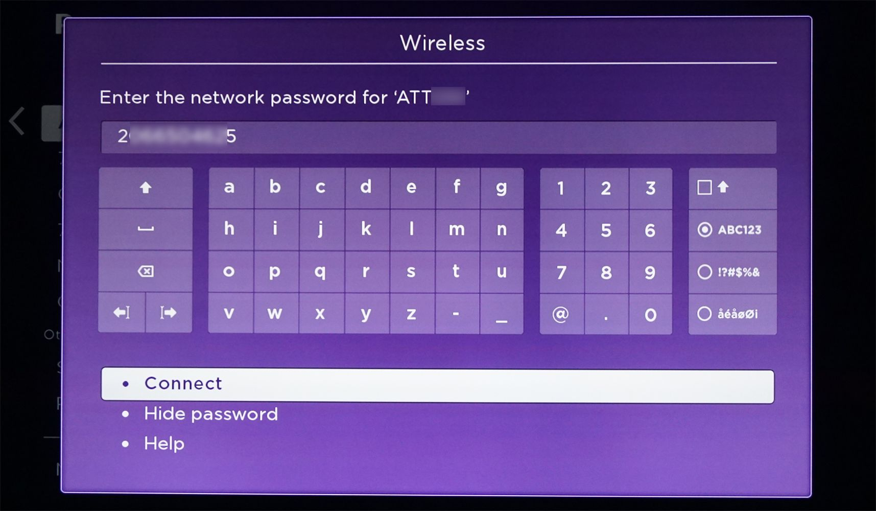 Roku Soundbar – Enter Network Password/Connect