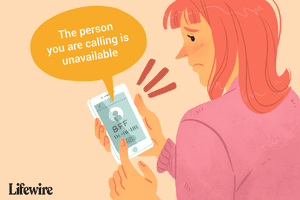 A woman trying to call her BFF, but receiving a message that the friend is unavailable.