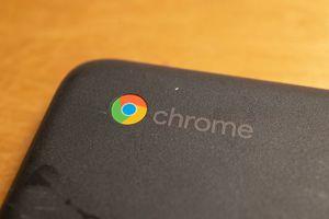 Chrome logo on Chromebook