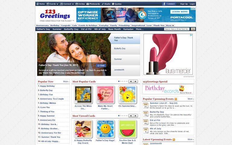 The Homepage Of 123 Greetings