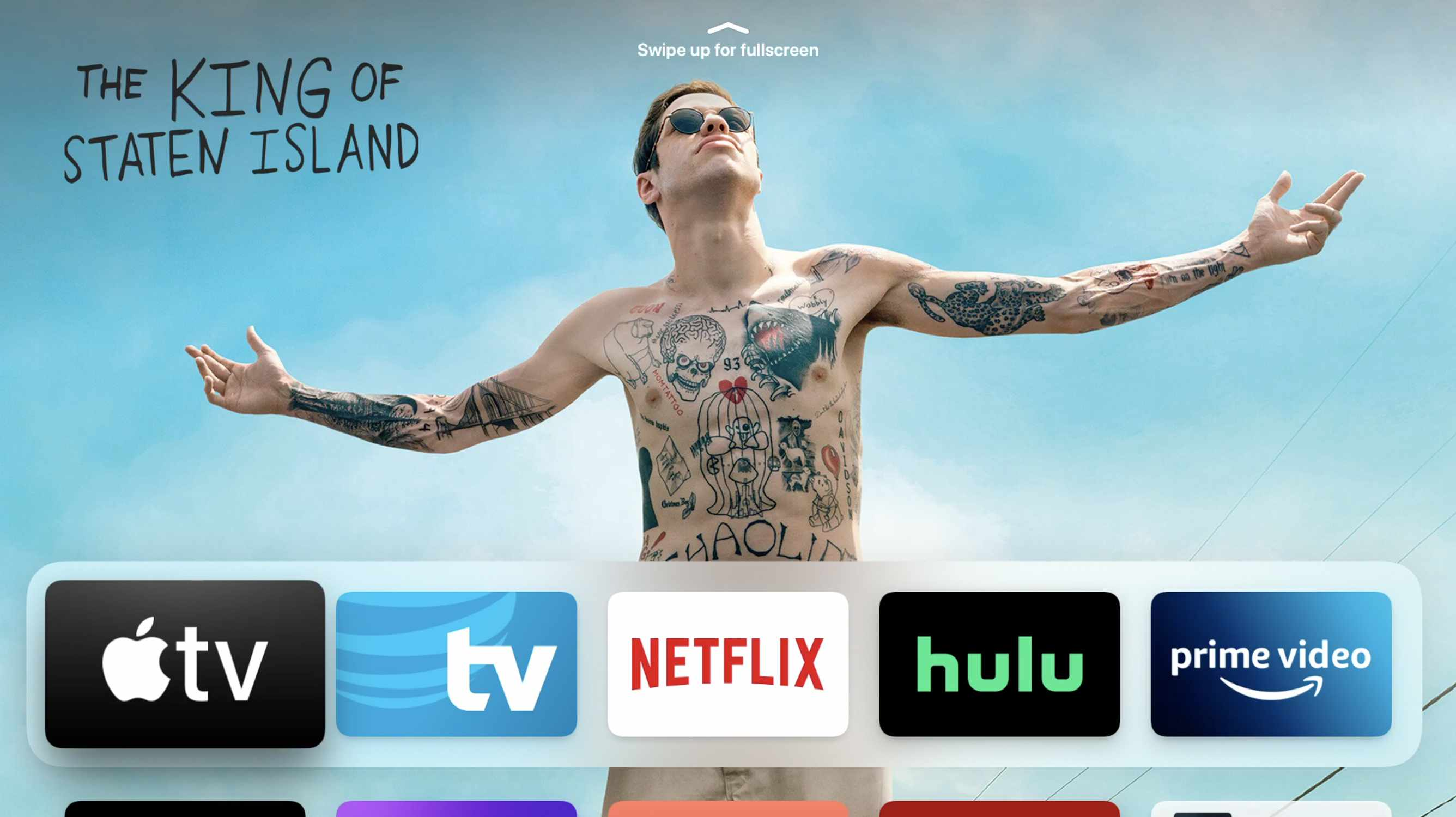 Screenshot of Apple TV homescreen