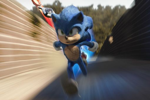 Sonic runs from Dr. Robotnik in 'Sonic the Hedgehog'