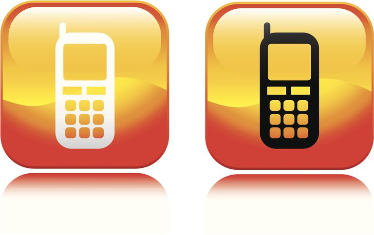 Illustrations of old-fashioned phones in familiar app icons.