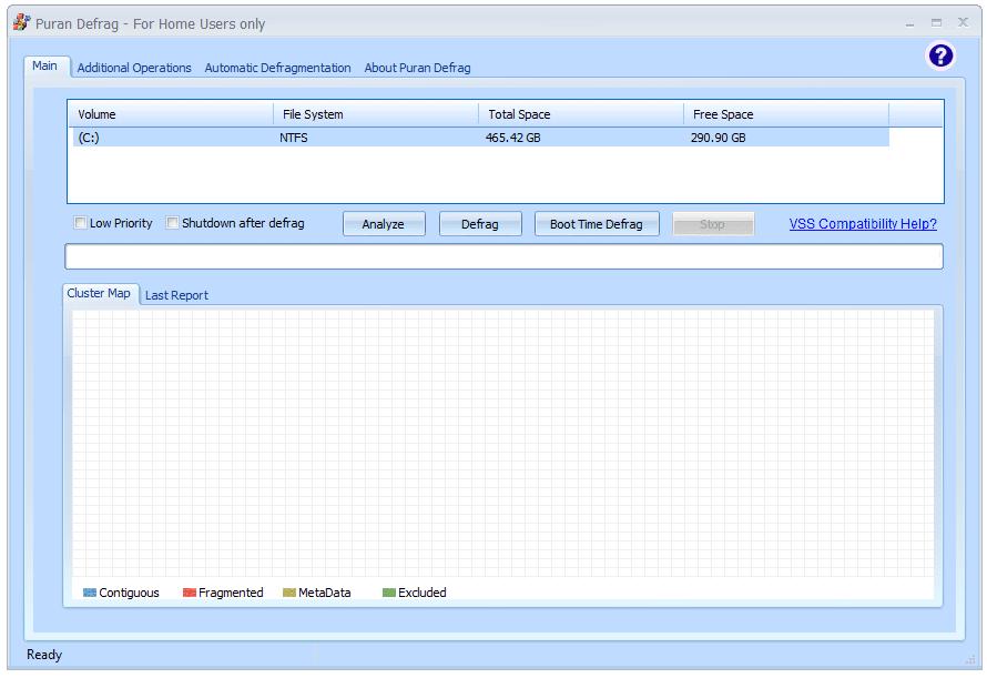 Puran Defrag - Free Defrag Software