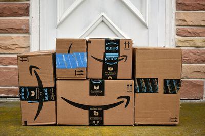 Amazon Boxes on doorstep