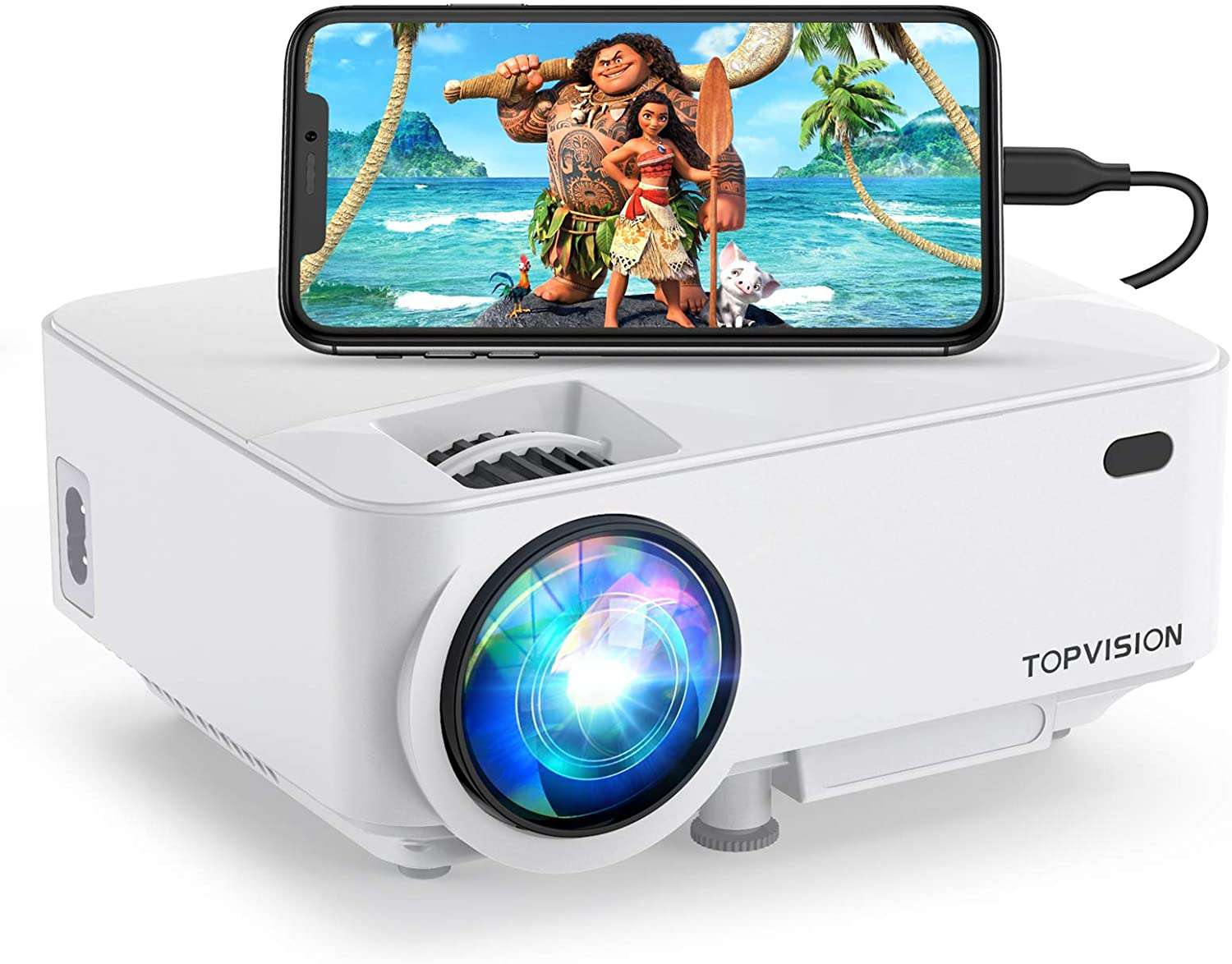 The Topvision 4000LUX projector is a great portable projector.