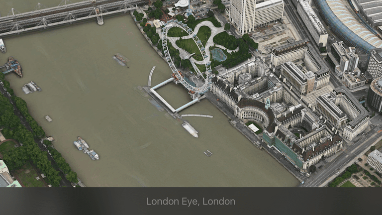 Overhead view of London Eye, London
