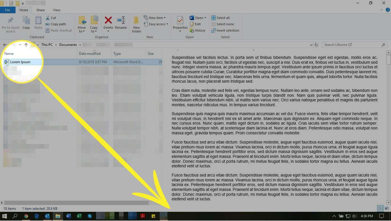 Dragging a file to the taskbar