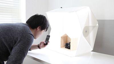 The Foldio3 lightbox
