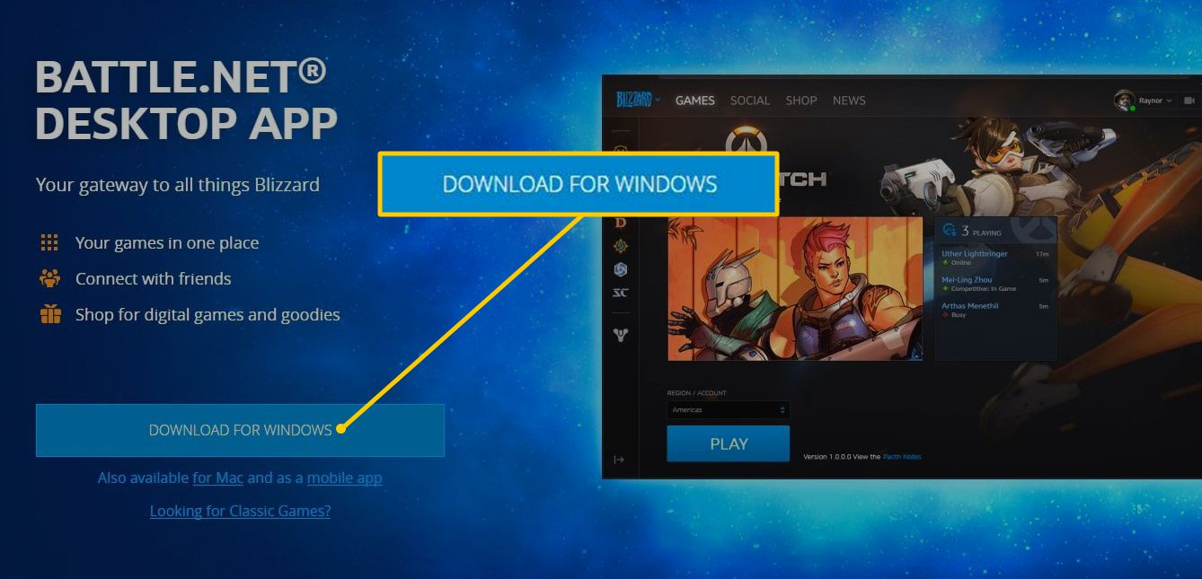 Download for Windows button