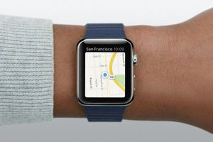 Apple Watch with Maps activated