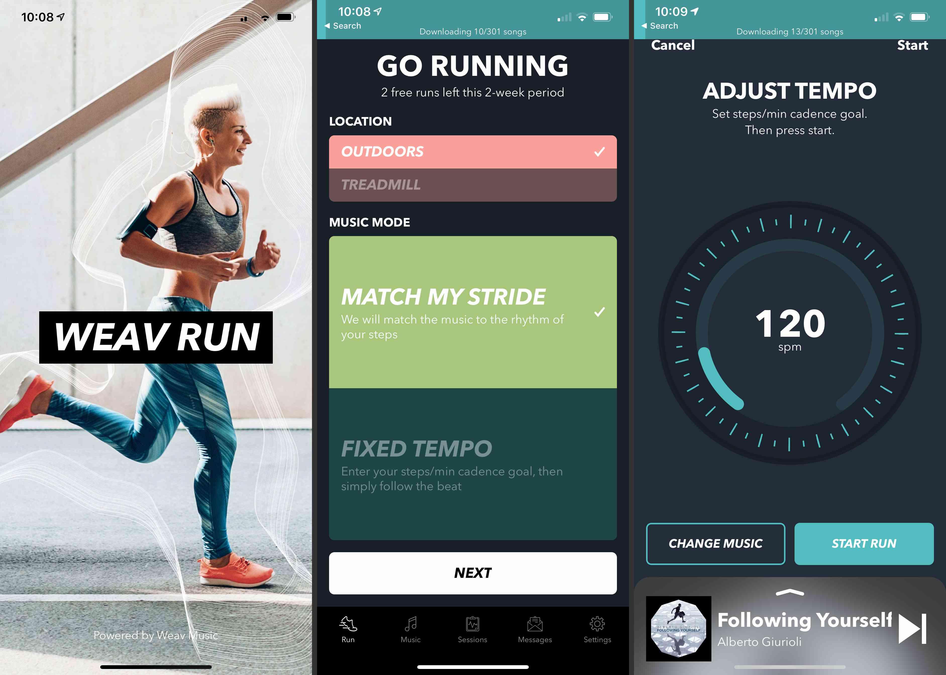 Weav Run app