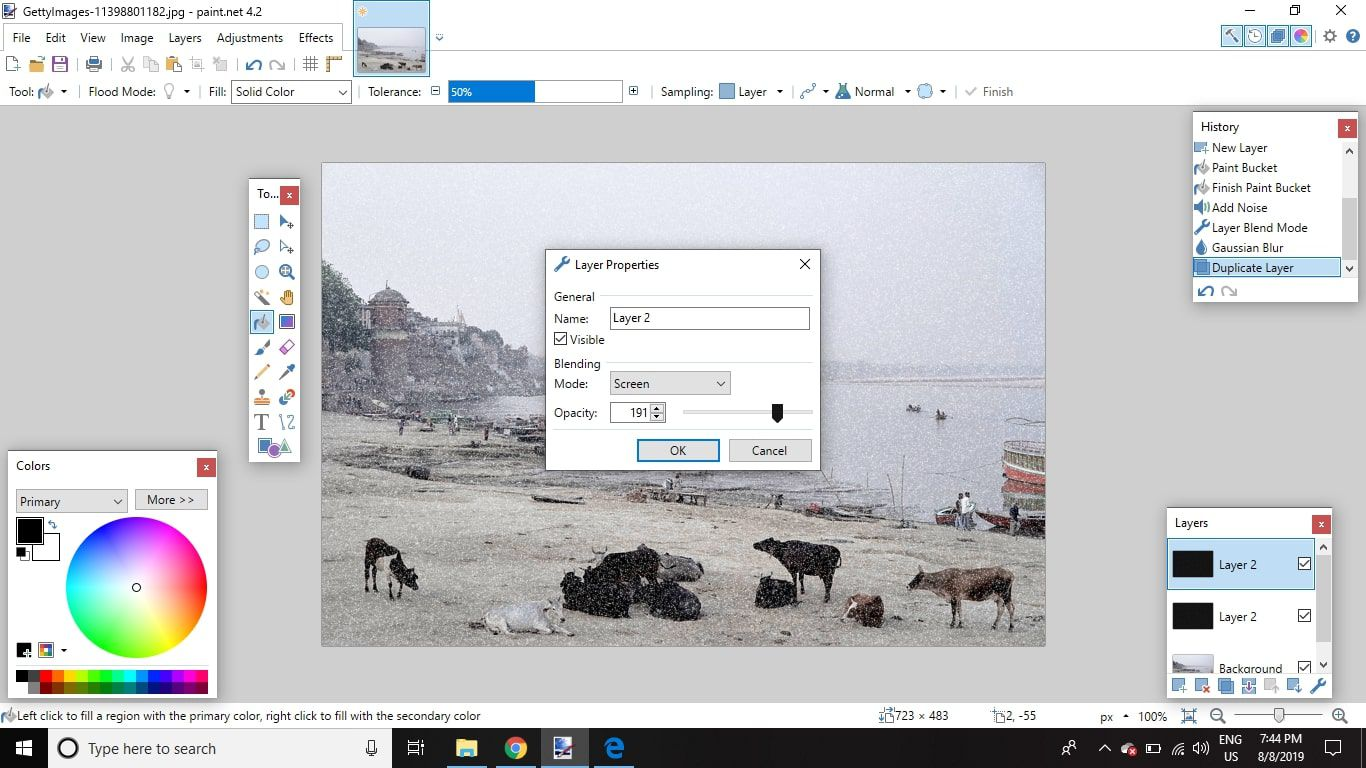 How To Make A Photo Look Snowy In Paint Net