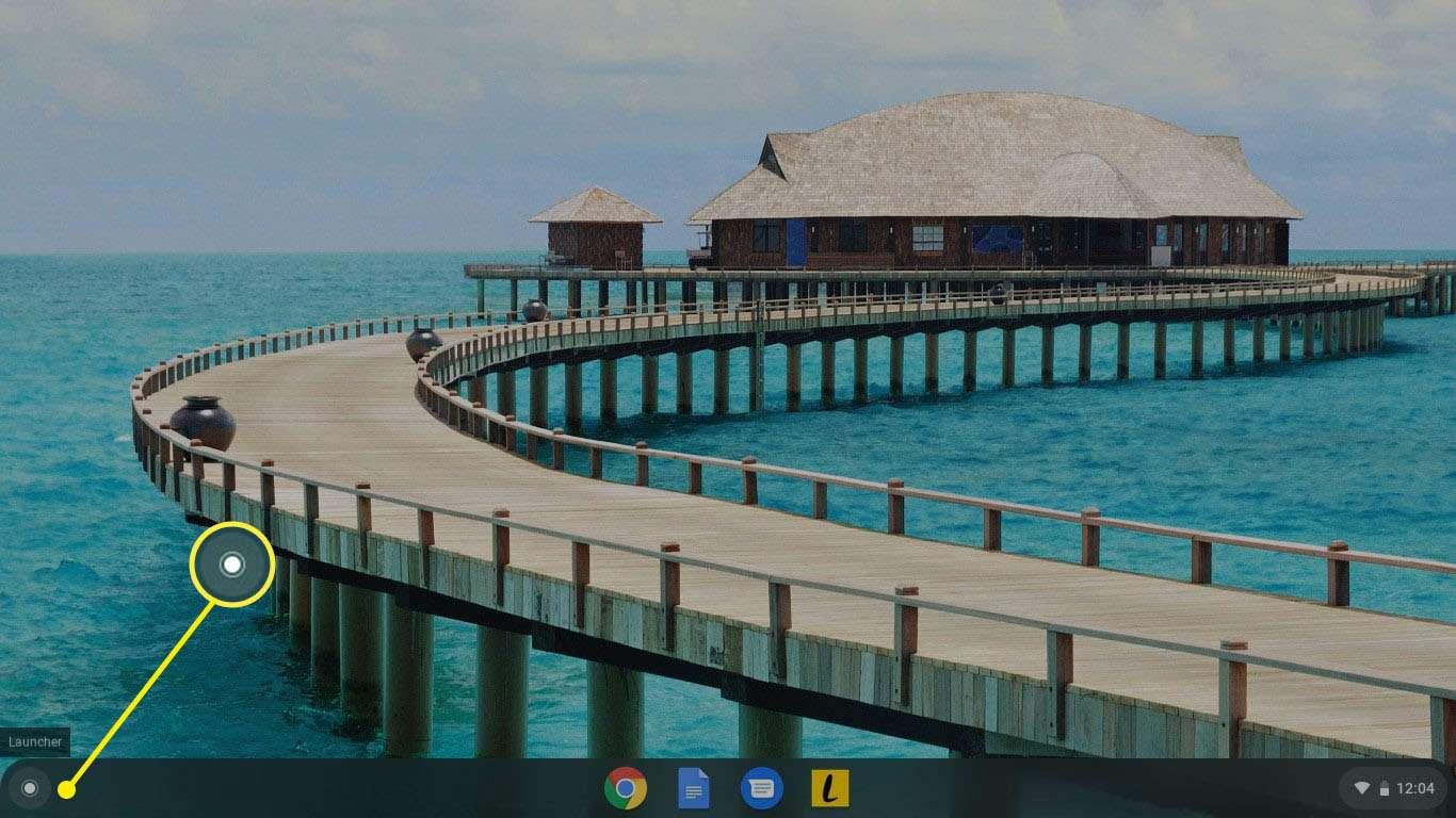 Select the App Launcher in the bottom-left corner of the desktop.