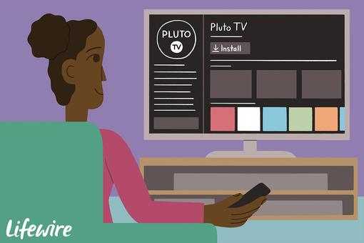 Someone adding PLuto TV to a smart TV