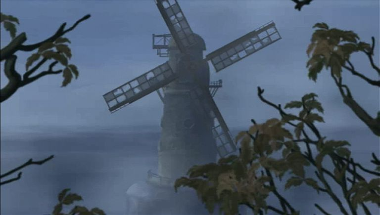 Still of creepy windmill from Mystery Case Files: The Malgrave Incident.