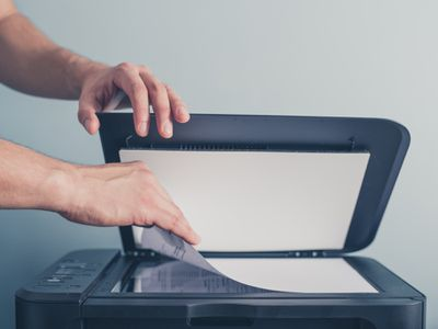 Scanning a Document Using a Flatbed Scanner