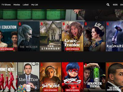 Netflix TV and movie browsing menu