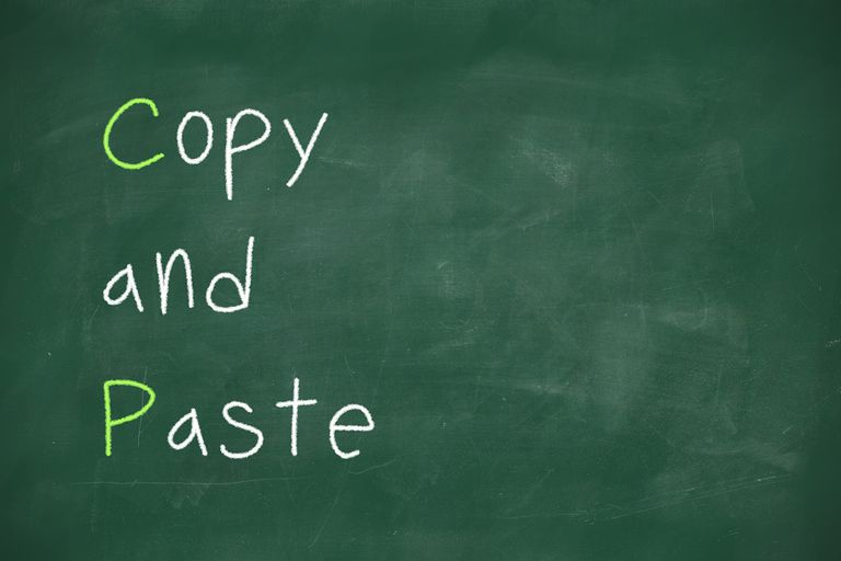 Copy and paste handwritten on school blackboard