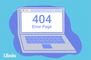 Illustration of a laptop with 404 Error Page on the screen
