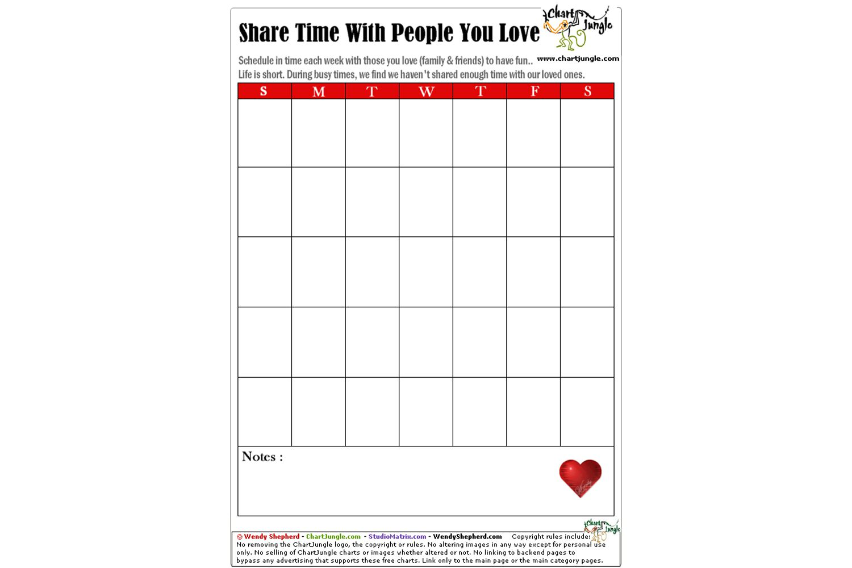 ChartJungle Printable Calendar