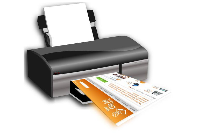 Printer printing a web page.
