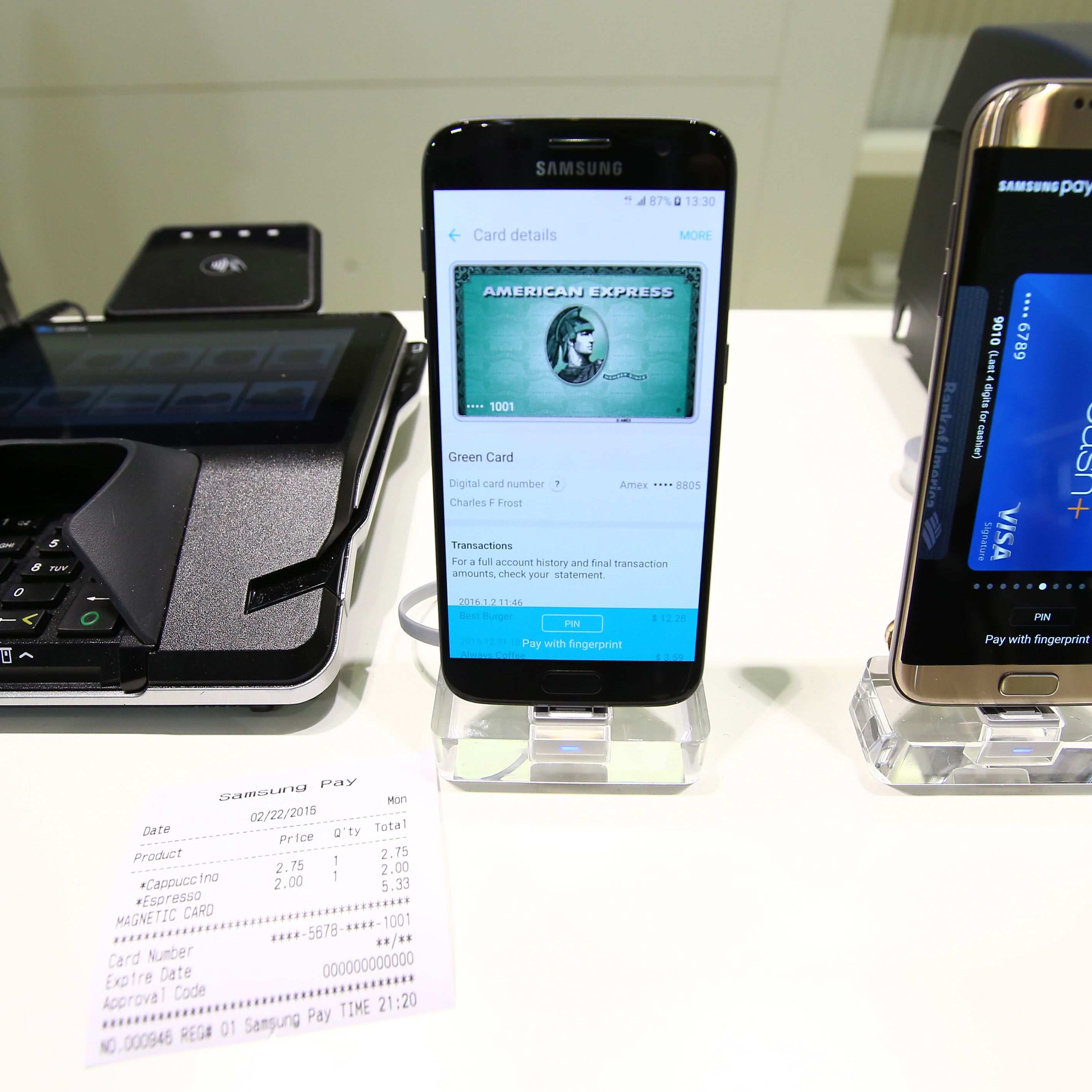 Compare Samsung Pay and Google Pay (was Android Pay)