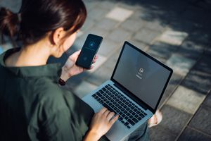 Woman Smartphone Security