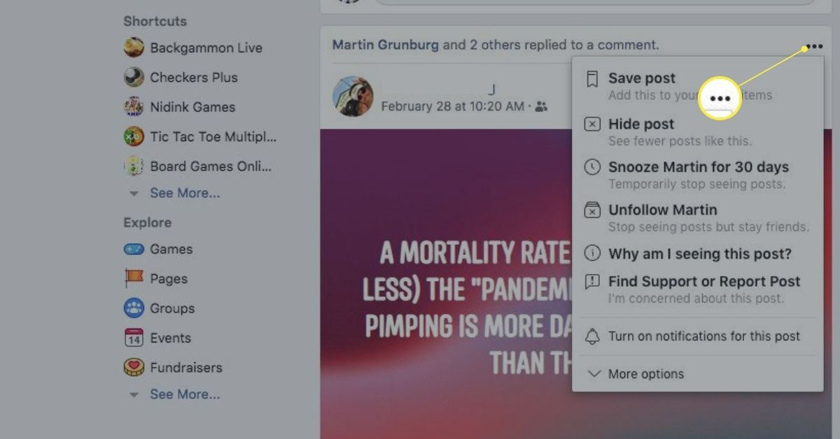 Facebook unfollow me A Simple