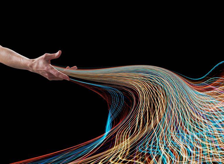 Hand releasing light streams