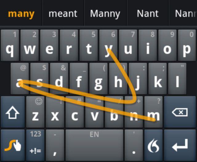 Using swype keyboard on iPad