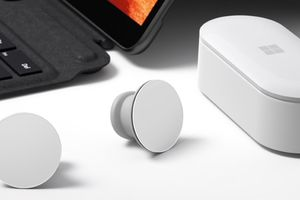 Microsoft's Surface Earbuds, the new kid on the block.