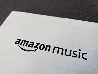 Amazon Music's logo in black against a white background