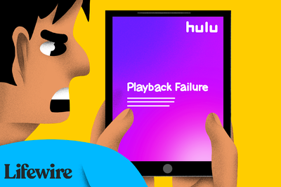 Angry person looking at a Hulu Playback Failure message on an iPad