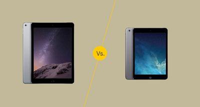 iPad 2 vs iPad Mini 2