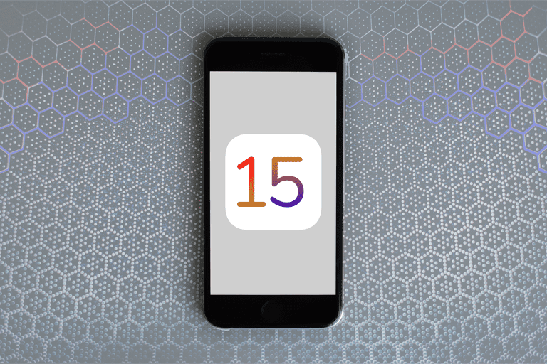 Number 15 on an iPhone screen