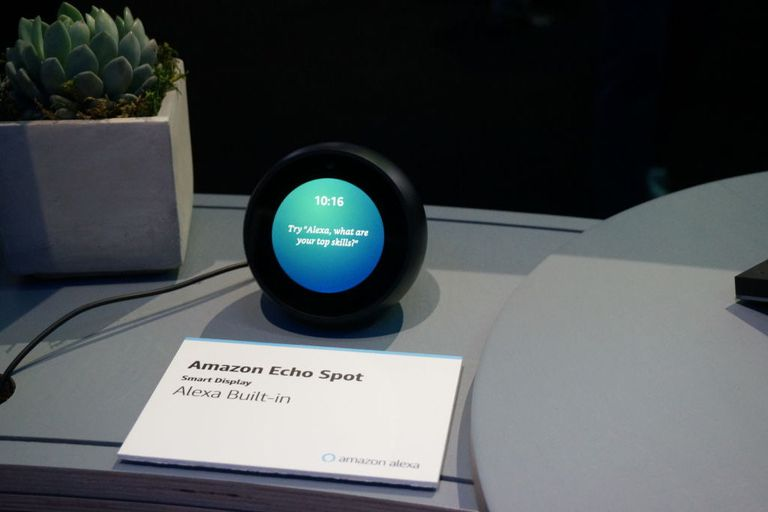 Amazon's Echo Spot device